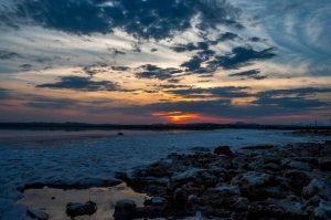 Sunset over Torrevieja Salt Lake