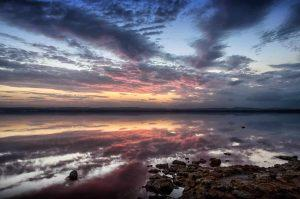 Sunset over Torrevieja Salt Lake